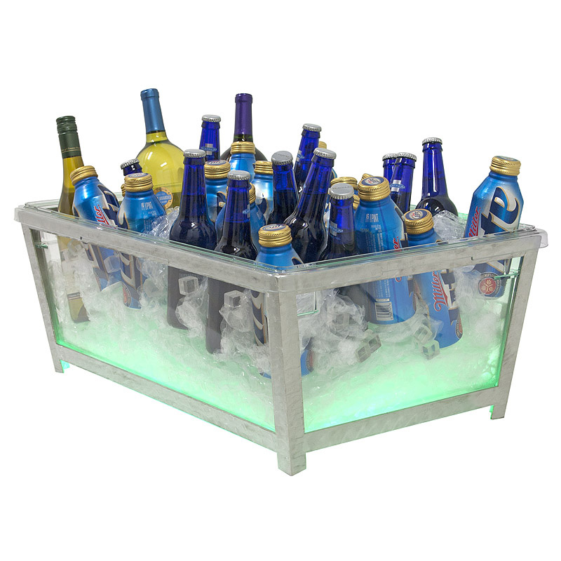Buffet Enhancements Beverage Ice Display 010BR90-CL-SATIN