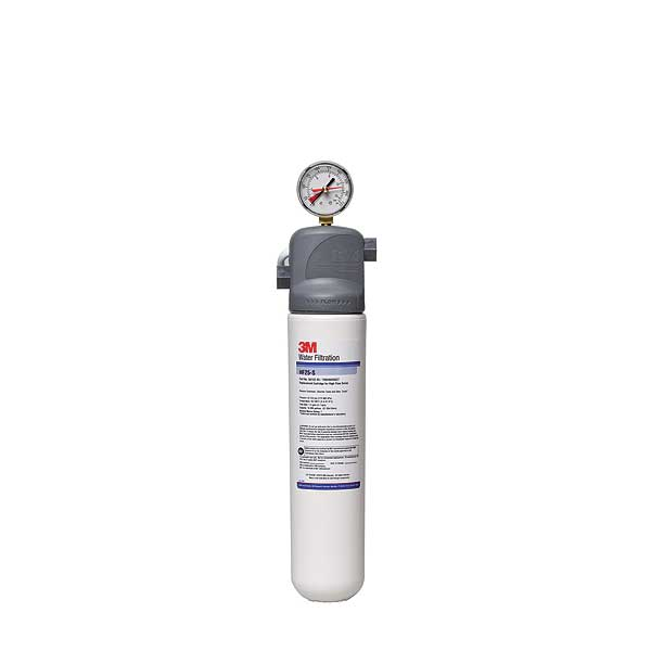 (5616004) 3M Water Filtration Products Water Filter System With Gauge 17 Inch H X 4.5 Inch D - ICE125-S