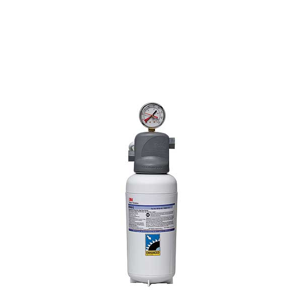 (5616203) 3M Water Filtration Products Water Filter System With Gauge 14-7/8 Inch H X 5-1/16 Inch D - ICE140-S
