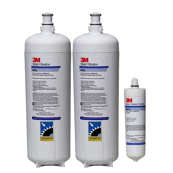 (5613814) 3M Water Filtration Products Replacement Cartridge Kit 0.2 Micron 70,000 Gallons Capacity - CARTPAK DP260
