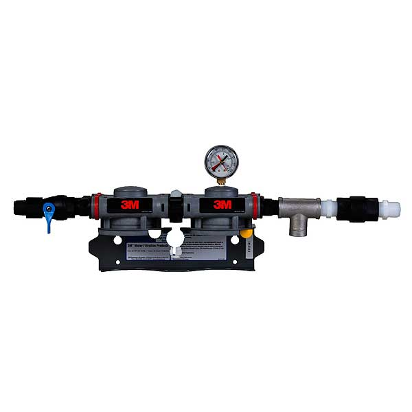 (6228503) 3M Water Filtration Products Dual Port Twin Manifold Assembly With Shut-off Valve Dual Head - DP2XX