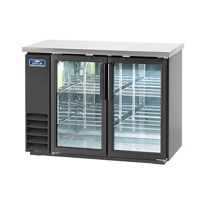 Arctic Air ABB48G Back Bar Refrigerator, 48 6-Pack Capacity, 2 Glass Doors