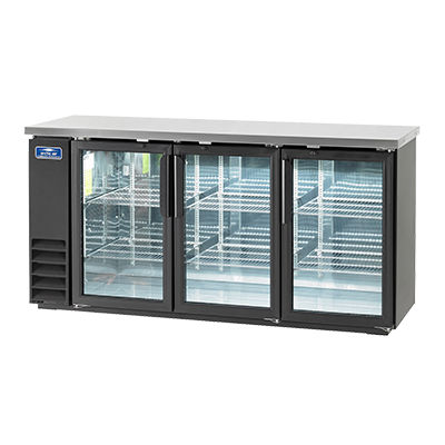 Arctic Air ABB72G Back Bar Refrigerator, 84 6-Pack Capacity, 3 Glass Doors