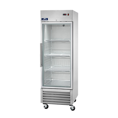Arctic Air AGR23 Reach-In, One Section Glass Door Refrigerator