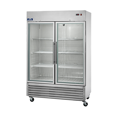 Arctic Air AGR49 Reach-In, Two Section Glass Door Refrigerator