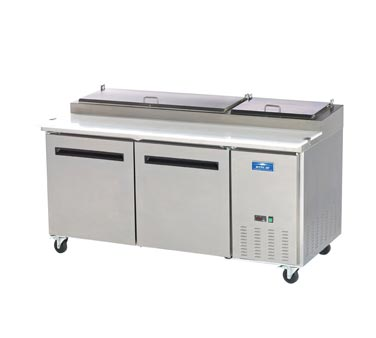 Arctic Air Refrigerated Pizza Prep Table, 2 Section - APP71R