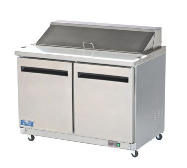 Arctic Air Refrigerated Sandwich/Salad Prep Table, 2 Doors - AST48R