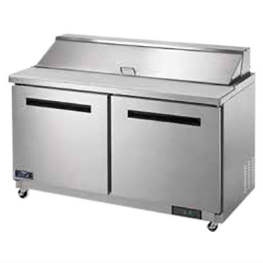 Arctic Air Refrigerated Sandwich/Salad Prep Table, 2 Doors, 15.5 Cu. Ft. - AST60R