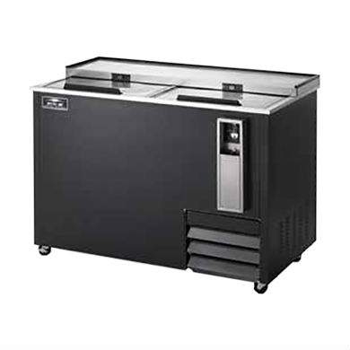 """Arctic Air AUB50R Bottle Cooler, Two Lids, 49.5"""" Wide, Holds 16.5 Cases"""