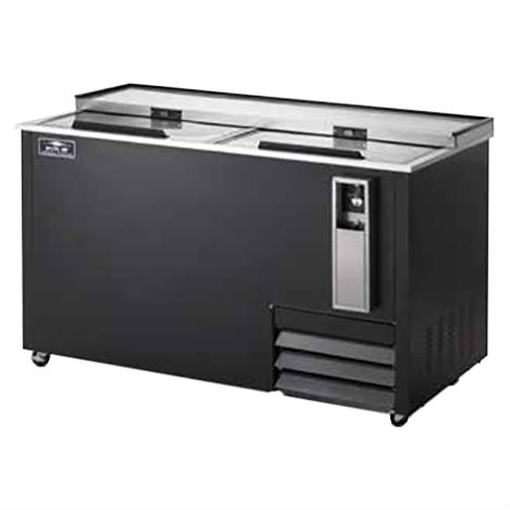 """Arctic Air AUB65R Bottle Cooler, Two Lids, 64.5"""" Wide, Holds 22 Cases"""