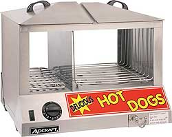 Adcraft HDS-1200W Commercial Hot Dog Steamer & Bun Warmer