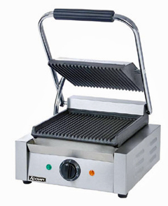 Adcraft Sandwich Grill, 8 Inch Ribbed Grill Surface