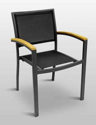 Florida Seating Chair - Black texylene, Black Frame Finish AL-5624-BLACK-BLACK