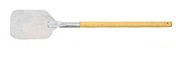 """Allied Aluminum Pizza Peel With Wood Handle, 6-3/4"""" x 7-3/4"""" Blade"""