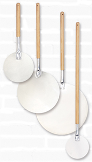 Allied Round Aluminum Pizza Peels With Wood Handle