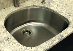A-Line Curve Single Undermount Sink