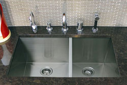 A-Line Trend 90 Degree Angle Double Bowl Undermount Sinks
