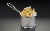 Stainless Steel Fry Basket - Round
