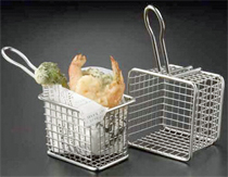 American Metalcraft Square Stainless Steel Fry Basket - FRYS443