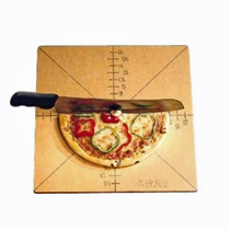 American Metalcraft Pizza Slice Cutting Board With Guide, 4 or 8 Slice