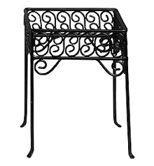American Metalcraft Contempo Black Square Scroll Pizza Stand – PSS77