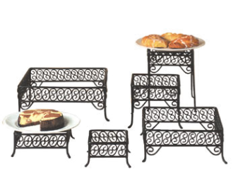 American Metalcraft Ironworks Display Stand Risers, Set of 6