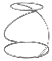 American Metalcraft Stainless Steel Contempo Swirl Pizza Stand - SSUS1