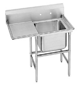 Regaline Heavy Duty 304 Stainless 1 Compartment Sink 1 Drainboard