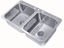 Advance Tabco 2 Smart Series Compartment Drop-in Sink - SS-2-4521-10