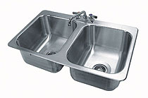 Advance Tabco 2 Compartment Drop-in Sink