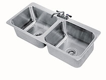 Advance Tabco Drop-in 2 Compartment Sink