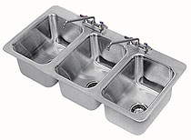 Advance Tabco 3 Compartment Drop-in Sink - DI-3-10