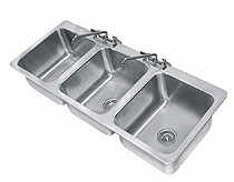 Advance Tabco Large 3 Compartment Drop-in Sink