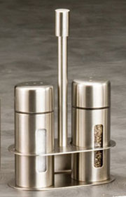 Stainless Steel Salt & Pepper Shaker Set