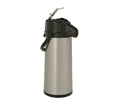 Bloomfield 7760 Stainless Steel Commercial Airpot - Lever Action With Glass Liner - 7760-ALM