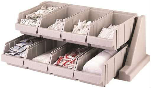 Cambro 8 Compartment Condiment Organizer Rack - Black