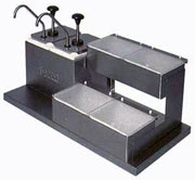 Carlisle Stainless Steel Condiment Station With 2 Jars