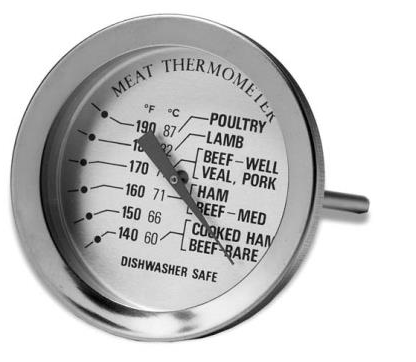 Stainless Steel Meat Thermometer by Comark