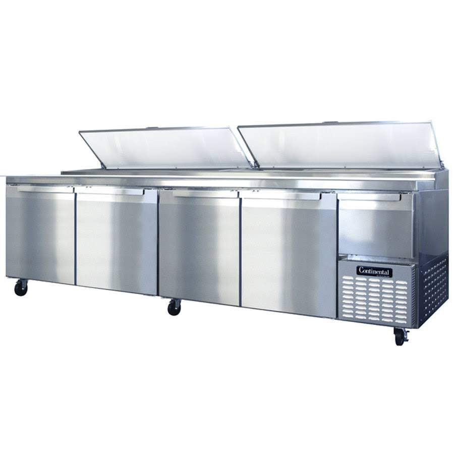 Continental CPA118+ Pizza Prep Table, Four-Section