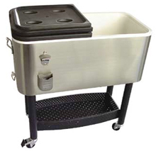 Crestware Stainless Steel Portable Beer Cooler