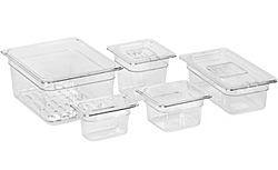 Poly-Carbonate Cold Storage and Prep Table Pans