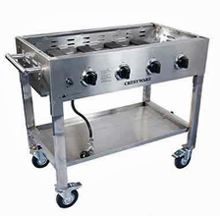 Portable Commercial Gas Griddle & Charbroiler