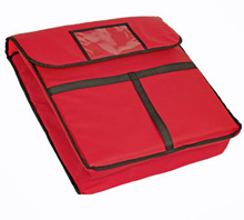 Crestware Red Insulated Pizza Delivery Bag
