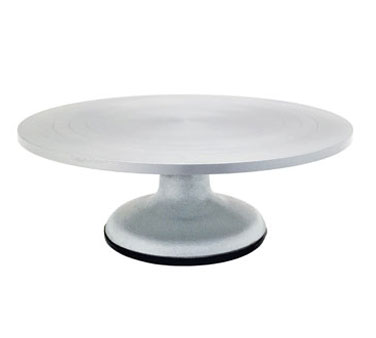 Crestware Revolving Cake Decorating Stand With Rubber Base