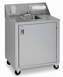 Crown Verity One Compartment Portable Sink Cart - CV-PHS-1