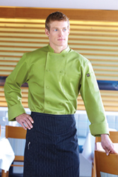 Genova Lime Chef Coat