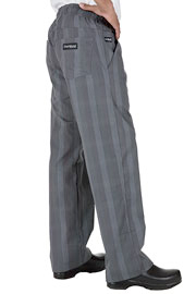 Gray Plaid UltraLux Better Built Baggy Chef Pants