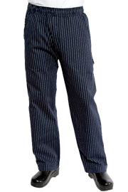 Navy Pinstripe UltraLux Better Built Baggy Chef Pants