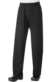 Chef Works Black UltraLux Better Built Baggy Chef Pants