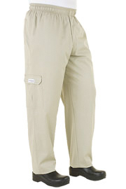 Stone Six Pocket Cargo Baggy Chef Pants